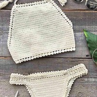 Cupshe Magic Show Crochet Tank Bikini Set