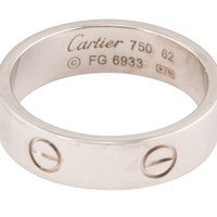 Cartier White Gold Iconic Love Ring Size 9.75