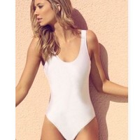 New White Black Sexy Women Sport Backless Bikini Swimwear Beachwear One-piece Swimsuit Bathing Suits Swim Wear Trikini Monokini