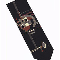Frank Lloyd Wright Fireplace Relief Silk Tie 1