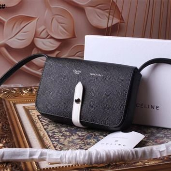 CELINE WOMEN'S 2018 NEW STYLE LEATHER INCLINED SHOULDER BAG