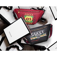 Gucci Classic Popular Women Men Leather Purse Waist Bag Zipper Single-Shoulder Bag Crossbody(5-Color) I