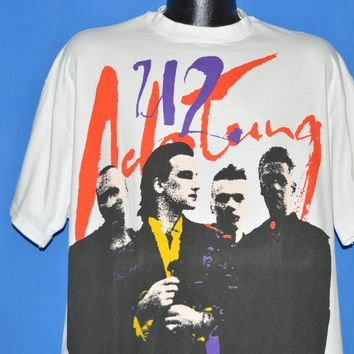 90s Actung Baby zoo TV Tour All Over Print t-shirt Extra Large