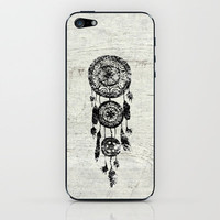 Hipster Lace black dreamcatcher on white wood iPhone & iPod Skin by Girly Trend | Society6