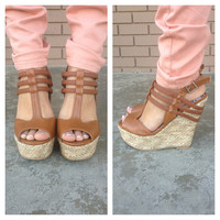 Camel Printed Soul Wedges
