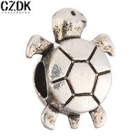 BE-151 Sea Turtle Antique Silver-Plated Alloy Beads Charms for European Bracelets Metal Beads Loose Beads