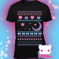 Ugly Christmas Sweater Kawaii Graphic T Shirt Fairy Kei Pastel Goth