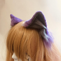 Lavender and Gray Fox Ears
