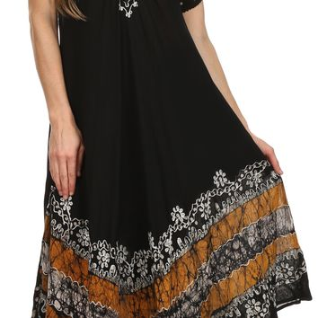 Sakkas Sara Batik CaftanTank Dress / Cover Up