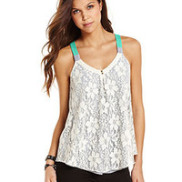 Jolt Juniors Top, Sleeveless Lace Tank - Juniors Tops - Macy's