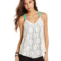 Rewind Juniors Top, Sleeveless Lace Tank - Juniors Tops - Macy's