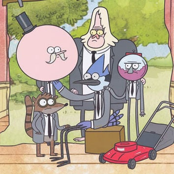 Regular Show Cartoon Cast Poster 22x34