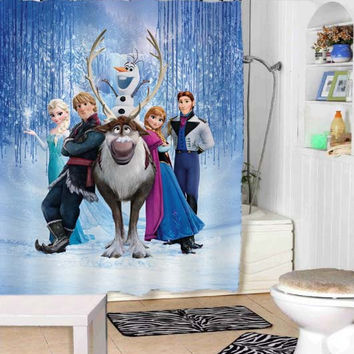 disney frozen shower curtains adorabel bathroom and heppy shower.