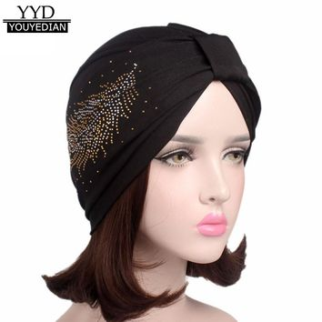2017 New Arrival Women Ladies Boho Cancer Hat Beanie Scarf Turban Head Wrap Cap Beanies For Ladies Gorras Mujer &1106