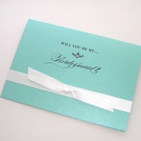 Will you be my Bridesmaid Card Tiffany by embellishedbytiffany
