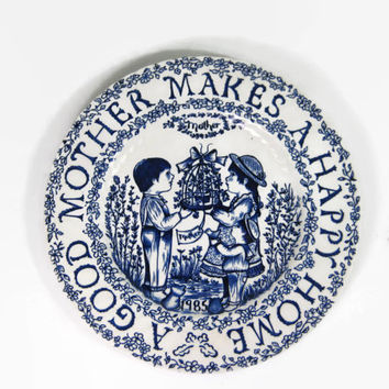 Mother Gift Plate Royal Croconford Norma Sherman Staffordshire England