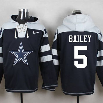 Cowboys #5 Dan Bailey Pullover NFL Hoodie - Navy Blue