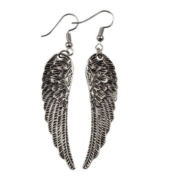RJ New Fashion Vintage Supernatural Gothic Feather Angel Wings The Forces Of Evil Talisman Charm Stud Earrings Woman Girl Gift