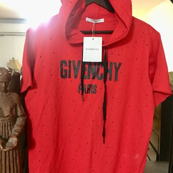 Givenchy Hooded Shirt 'Size US 2XL' (Custom Distressed Designs!!)