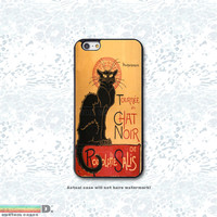 Chat Noir Black Cat, Custom Phone Case for iPhone 4/4s, 5/5s, 6/6s, 6/6s+, iPod Touch 5