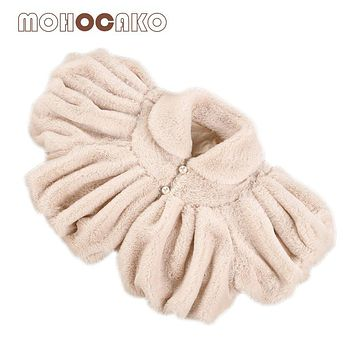 MOHOCAKO Naturally Colored Cotton Autumn & Winter Baby Clothes Girls Coat Jacket Casual Warm Plush Infant Outerwear Baby Costume