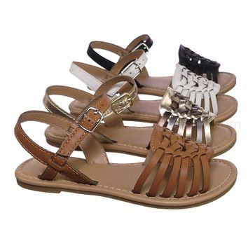 3a952bb2f Milene2 Kids Woven Fisherman Huarache Flat sandal - Girl Children Open Toe  Shoes
