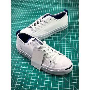 bf392985a325 Converse Jack Purcell Signature White Blue Shoes