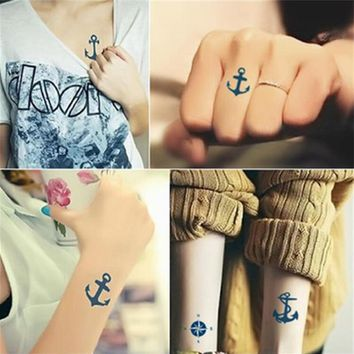 Tattoo Stickers Waterproof Original Female Simulation Scar Scar Lasting Male Tattoo Pirate Pirate Anchor Tattoo Stickers
