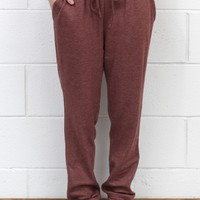 Loose Fitting Jogger Sweatpants {Brick}