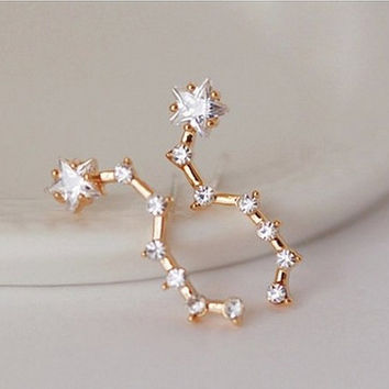 Big Dipper Star Constellation Earrings