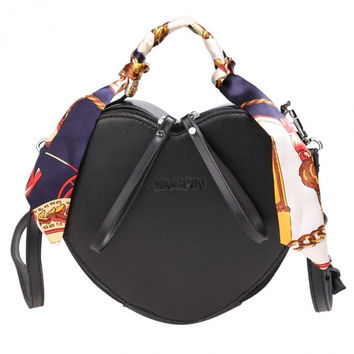 Cute Heart Shape Solid Synthetic Leather Shoulder Bag