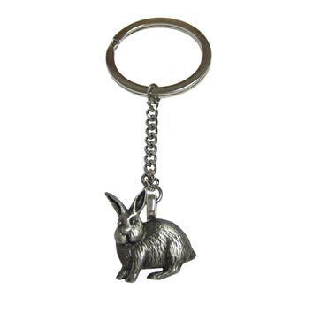 Leaping Hare Rabbit Pendant Keychain