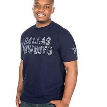 Dallas Cowboys T-Shirt Men's Double Cut DCM NFL Navy