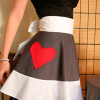 Sexy cook half apron special Valentine's by EnvironmentallyYours