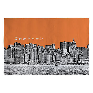 Bird Ave New York Orange Woven Rug