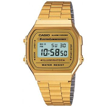 Casio Gold-Tone Stainless Steel Mens Watch A168WG-9WDF - Walmart.com