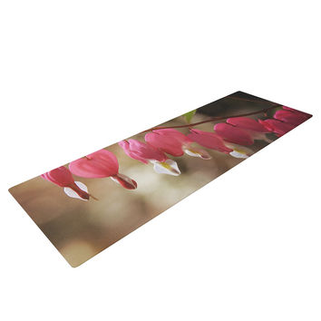 "Angie Turner ""Bleeding Hearts"" Pink Flower Yoga Mat"