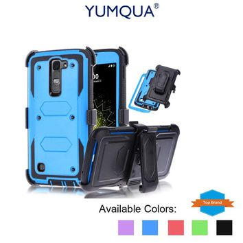 YUMQUA Cover Case For LG Stylo Stylus 2 LS775 Protective Case With Belt Clip Holster Impact Armor for lg stylus 2 Plus Duty Case