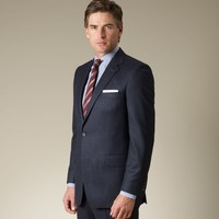 Dark Navy Flannel Two-Button Suit - Suits & Separates - Menswear - Shop online