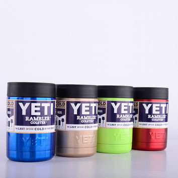12OZ colorful YETI cups 304 stainless steel 1:1 YETI Rambler Tumbler vaccum insulated car beer cups mugs 11 Colors