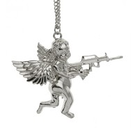 Angel Baby carry Gun Stuff Pendant Necklace