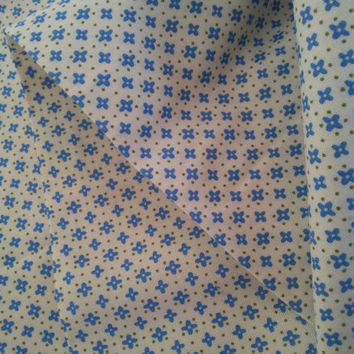 Quilting Cotton Fabric. Small Blue Flowers. Moda