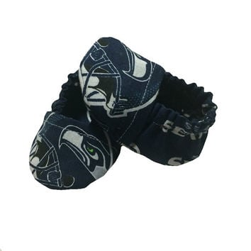 Seahawks Baby Booties - Baby Shower Gift - Newborn Baby Shoes - Infant Baby Slipper