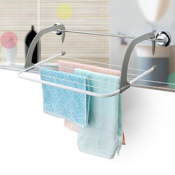 Multifunctional Metal Hook Type Folding 5 Bar Towel holder storage rack Organizer drainer shelf for drying rack