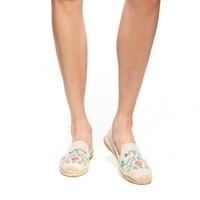 Smoking Slipper - Mexican Embroidery Sand Multi Espadrilles for Women from Soludos - Soludos Espadrilles