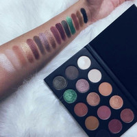 15 Colors Morphe X Kathleen Lights Palette Smokey Eyes Nude Lips Tutorial Using Matte Shimmer Makeup Eye Shadow Contour Pallete