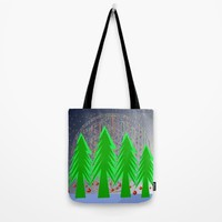 Christmas Dreamer | Christmas Spirit Tote Bag by Azima