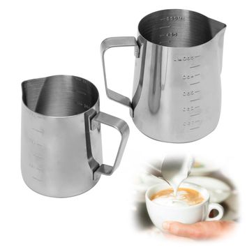 MEXI Stainless Steel Coffee Frothing Milk Latte Jug Fancy Foam Cup Pitcher Coffee Maker Pot Kettle 350/550ml