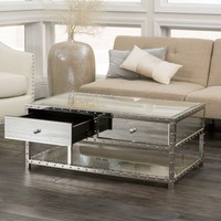 Jade Mirrored Coffee Table by Christopher Knight Home | Overstock.com Shopping - The Best Deals on Coffee, Sofa & End Tables