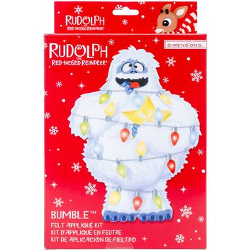 Rudolph the Red-Nosed Reindeer Bumble Dimensions Felt Decor Applique Kit